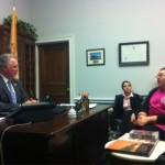 Saint Peter's University students meeting with Rep. Sires
