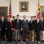 Gonzaga College High School students with Governor O'Malley