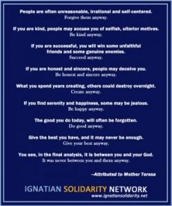 Mother Teresa Ignatian Solidarity Network