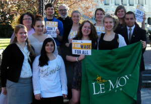 Le Moyne College students on Capitol Hill