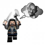 Lego thinking of Gandhi